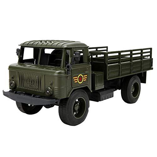 Simulazione Modello Camion Militare con Suono e Luce Tirare Indietro Veicolo Pressofuso Giocattoli Educazione Cognitivo Giocattolo Compleanno Regalo per Oltre 3 Anni Bambini Ragazze Ragazzi(verde)