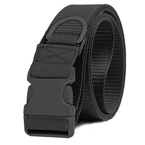 Selighting Taktischer Gürtel Militärisch Nylon Gurtband Molle Verstellbar Gurt mit Schnellverschluss (Schwarz)