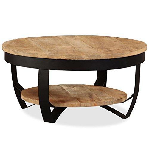 Festnight Table Basse Style Industriel en Bois Massif de Récupération 65 x 32 cm