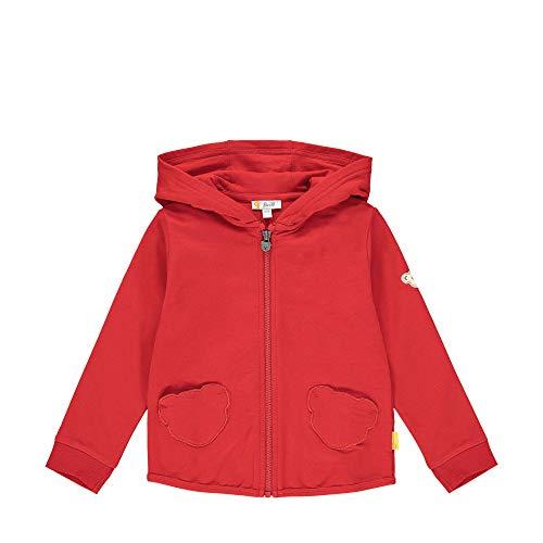 Steiff Baby-Mädchen Sweatjacke, Rot (Tango Red 4008), (Herstellergröße: 104)