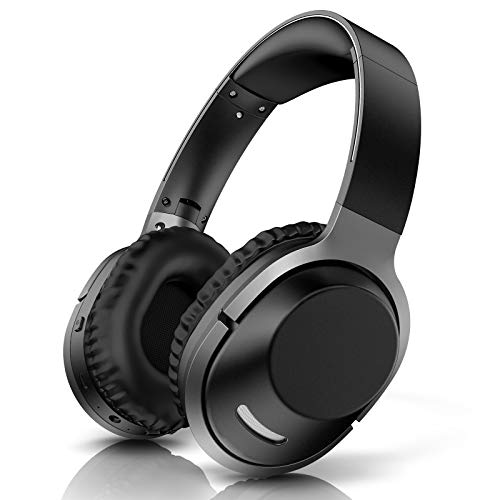 Bluetooth Wireless Kopfhörer Over Ear Faltbar Drahtlos Audiokopfhörer 42 Std Hi-Fi Stereo Headphone mit CVC 6.0 Kabellose und kabelgebundene Mode 3.5mm Audiokabel Headset mit Integriertem Mikrofon