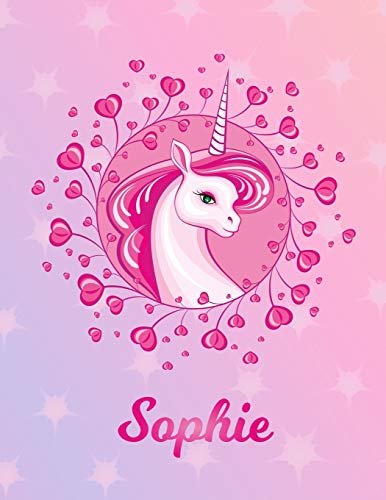 Sophie: Unicorn Sheet Music Note Manuscript Notebook Paper – Magical Horse Personalized Letter S Initial Custom First Name Cover – Musician Composer … Notepad Notation Guide – Compose Write Songs