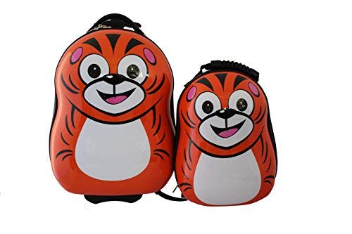 Cuties and Pals Kinderkoffer, Kinder Rucksack (Set ( Koffer & Rucksack), Tiger)
