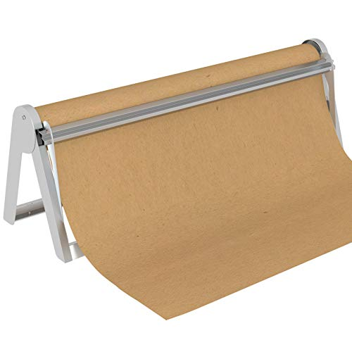 MARIGOLD 18-inch Butcher Paper Dispenser - Wrapping Paper Roll Cutter & Paper Holder for Butcher Freezer Craft Paper Rolls,Butcher Paper Roll Dispenser for Christmas Gift Wrap,Wall Mount or Tabletop