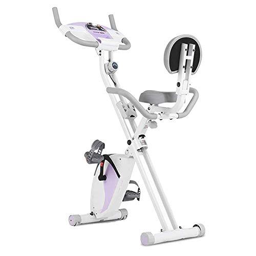 WGFGXQ Bicicleta de Ejercicio magnética Plegable, Bicicleta de Fitness y Entrenador de Abdominales Equipo Deportivo de Altura Ajustable Entrenador de Cardio Ideal con Monitor LCD para Gimnasio en c