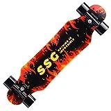 Qihan Skateboard 7 Layers Decks 31'x8' Pro Complete Skate Board Maple Wood Longboards for Teens Adults Beginners Girls Boys Kids