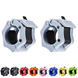 Olympic Barbell Clamps 2 Inch Quick Release Non-Slip Barbell Collars Clips for 2-Inch Pro Olympic Weight Bar Plate Lockdown Weight Clamps for Workout Weightlifting Fitness Training (One Pair / 2 PCS)
