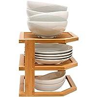 Taylor & Brown® Bambú 3Nivel esquina estantería de cocina platos accesorio de baño ordenado armario organizador escritorio–perfecta idea de ahorro de espacio