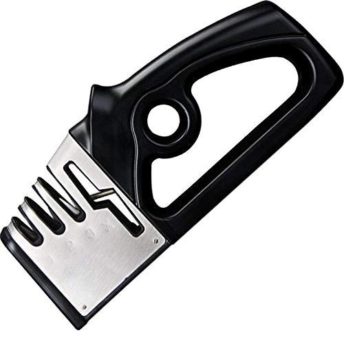 YI-YU 4 Stages Knife Sharpener Professional Kitchen Sharpening Stone Tungsten Steel Ceramic Kitchen Tools Scissors Grinder Accessories Knife Sharpener Whetstone (Color : Black)
