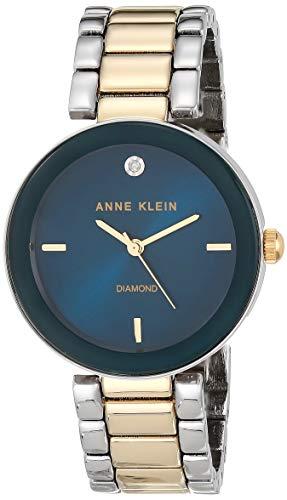 Anne Klein Women's Japanese-Quartz Dress Watch (Model: AK/1363NVTT)