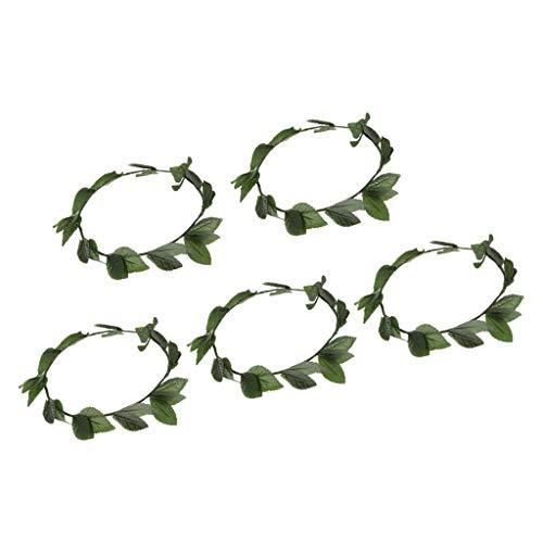 Harilla 5X Roman Greek Womens Green Wreath Diadema Diadema Princesa Elf Disfraz Prop