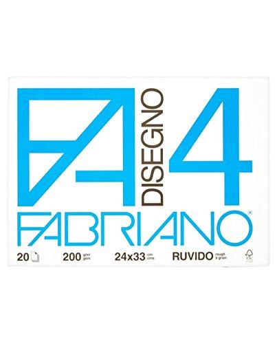 Fabriano 05000797 Disegno 4, Ruvido, 33 x 48 cm, 200 G/Mq, 20 Fogli