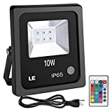 LE Outdoor Led Flood Lights, IP65 Waterproof, 10W RGB, 16...
