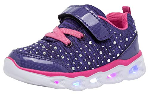 Umbale Kids Led Shoes Casual Flashing Sneakers(Girls/Boys) (12 M US Little Kid, Purple)