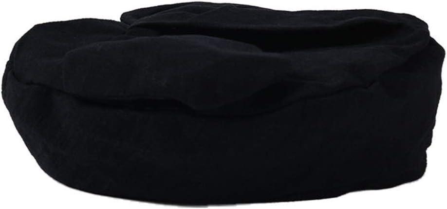 Aohi WXQ-XQ Student Cute Bow Beret Female Striped Wild Cloth Hat (Color : Black, Size : M)