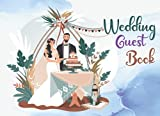 WEDDING GUEST BOOK: standard cover design with polaroid photo album | use as memorial book / messages book / advice / reception events guest book ... 152 pages) enough for small/medium wedding