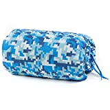 Great Deal on Custom Camo Picnic Blanket - Army Military Woobie Poncho Liner- Use 4 Camping Hiking Gear & Car Survival Blanket – Be Unique w. Blue Winter Snow a Camo Pattern Avail at Farm Blue