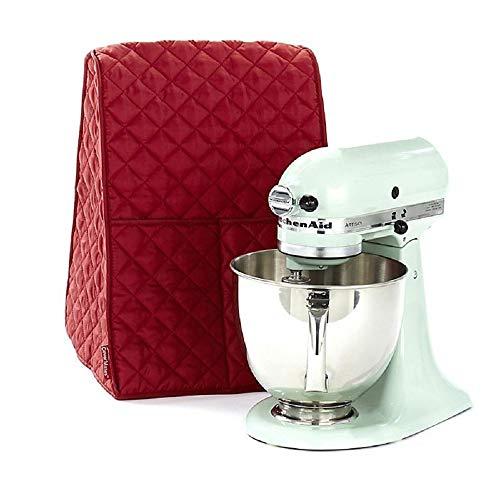 Mischer Abdeckung Staubdichte Abdeckhaube für die meisten Mixer/Standmix/Juicer/Kaffemaschine mit Aufbewahrungstasche, Abdeckhaube für Kitchen Aid Mischer (Red)