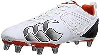 canterbury Men's Phoenix Club 8 Stud Rugby Boots E22319-001 White/White Black 6 UK, 39 EU by Canterbury
