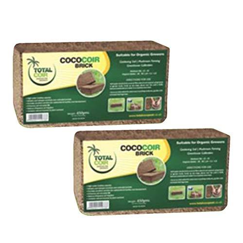 2 x Kokosfaser, 650 g (9 l), Bio-Kokosfaser, 100 % natürlich, Anzuchtmedien, Kokos-Erde