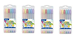 powerful 4 BAZIC6 gel pens with colored glitter and fruit scents