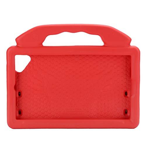 Cyrank Estuche Portátil para Tableta, Funda Protectora para Tableta de 8 Pulgadas para 2019 (T290/T295) Estuche EVA Anticaídas a Prueba de Golpes(Rojo)