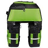 Alforjas Bicicleta 70L portabicicletas asiento trasero de mano Pannier bici de múltiples funciones del tronco bolsa de equipaje de bicicletas a prueba de agua Carrier ciclo al aire libre Mochila Malet
