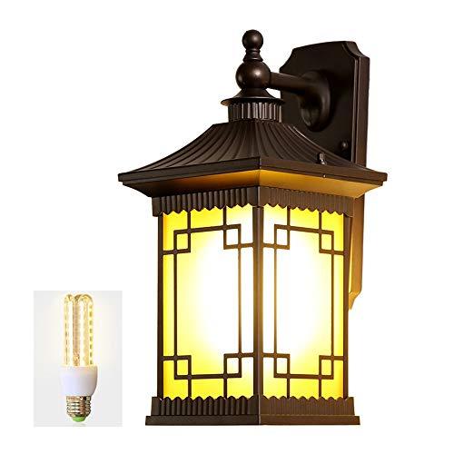 Chinese Stijl Outdoor Retro Waterdichte Wandlamp, Tuinlamp Tuin Villa Aisle Corridor Japanse Stijl Balkon Deur Outdoor Lamp A