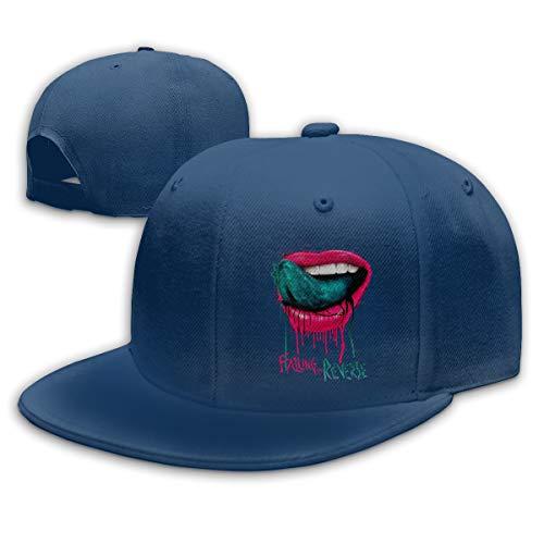 Verstellbar Damen Herren Falling In Reverse Lips Baseballcap Hat Snapback Baseball Cap Mode Flatbrim Mütze Für Jungen Mädchen