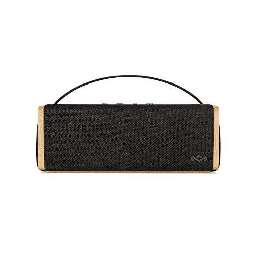 House of Marley Riddim BT, tragbare Bluetooth Lautsprecherbox, 1,5 Zoll Full Range Treiber, 10 Std Akkulaufzeit, Aux-In, schnelles Laden per USB, integriertes Mikrofon für iPhone, iPad etc, black