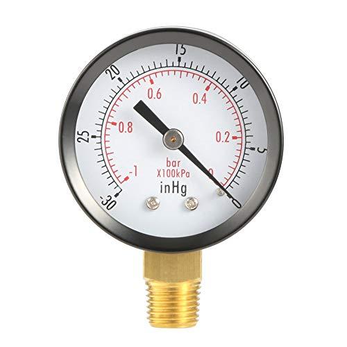 Newgreenca Trockenprogramm Vakuum-Manometer Blk Stahl 1/4