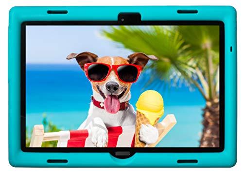 BobjGear Bobj Rugged Tablet Case for Lenovo Smart Tab M10 10.1 inch (TB-X605F, TB-X505F,I,L,X) and P10 (TB-X705F) Kid Friendly (Terrific Turquoise)