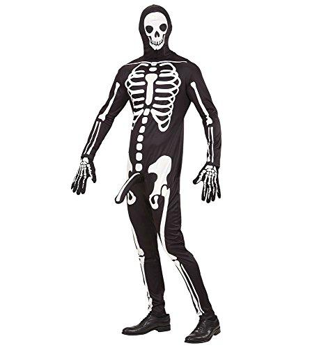 shoperama Herren-Kostüm frivoles Skelett Horny Skeleton - Lustiges Skelettkostüm Overall Halloween JGA Junggesellenabschied, Größe:XL
