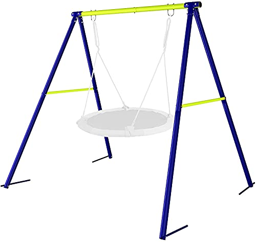 Dripex Schaukelgestell Metall Schaukel Gestell Schaukelgerüst für Kinder Schaukel bis 100kg belastbar Outdoor Garden