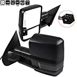 FEIPARTS Tow Mirrors Fit for Towing Mirrors with 2014-2018 for Chevy for GMC 1500 2015-2019 for Chevy for GMC 2500 HD 3500 HD Power Heated Turn Signal Puddle Light with Black Pair Left Right Mirrors