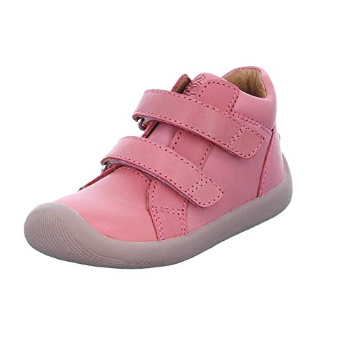 Bundgaard Kinder Halbschuh The Walk Velcro Mädchen Echtleder Klettverschlüsse Rosa (732 Soft Rose) Größe 23 EU
