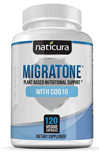 Migraine Defense Headache Relief Supplement – Neurologist Recommended to Help Prevent Pain, Nausea, Sensitivity & Auras from Tension & Chronic Strain - Migratone 120 Vegan Caps with PA Free Butterbur