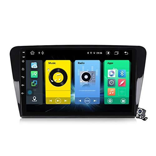 Gokiu Android 10 Autoradio 2 DIN Car Stereo Coche GPS Navegacion para Skoda Octavia 3 A7 2013-2018 Soporte Carplay Android Auto/Multimedia FM RDS DSP/Control Volante/Hands-Free Calls,7862: 6+128
