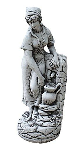 CATART Figura jardín surtidor Fuente Estanque en hormigón-Piedra Modelo Melissa 22X55cm.