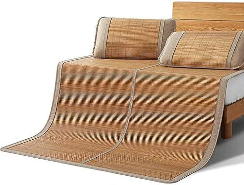 WXH Bambusmatte Double Folding Student Dormitory Einzelbett Kissen ohne Haken Dorn kühl und komfortabel (Größe   1.35m×1.95m)