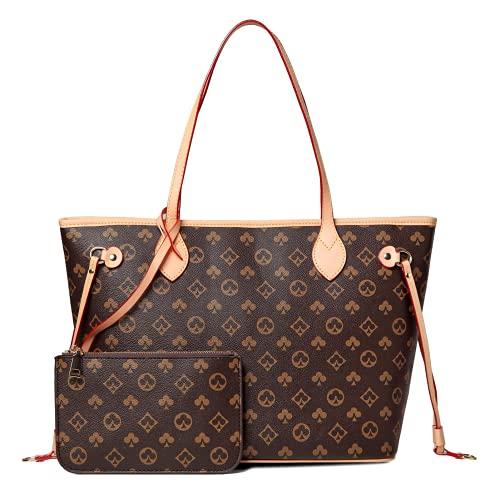 YUESUO Handtasche Damen Brieftasche Set Schultertasche Mahjong Tasche Pu Leder Shopping...