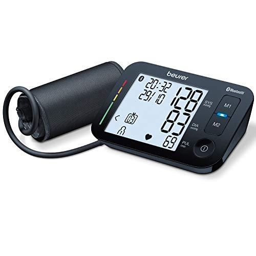 Beurer bloeddrukmeter voor de bovenarm BM54 | digitale bloeddrukmeter met XL-display, zwart | Bluetooth en groot display | aritmieherkenning | grote manchet voor bovenarmomtrekken van 22 tot 44cm