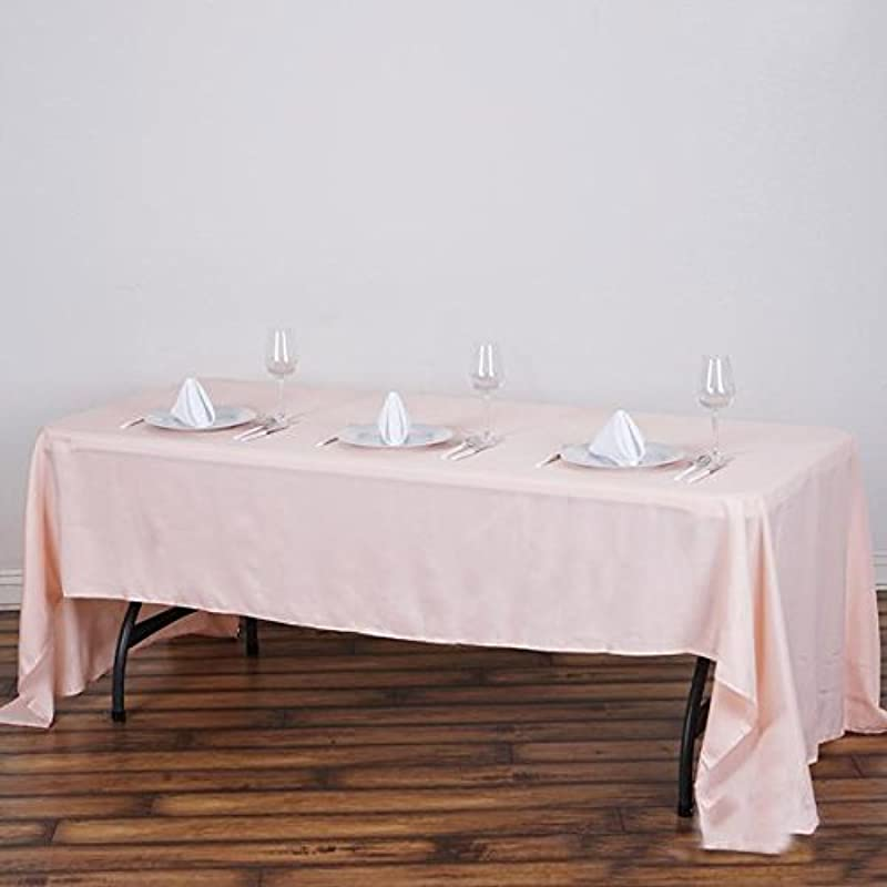 Efavormart 60x126 Blush Wholesale Linens Polyester Tablecloths Banquet Linen Wedding Party Restaurant Tablecloth