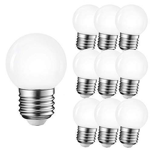10per-pack LED G45 1W E27 Warmweiß 3000K 230V Dekorative Leuchtmittel für Partybeleu chtung Biergartenbeleu chtung (Warmweiß)