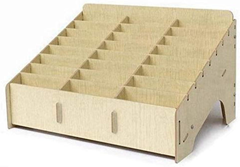Storage Boxes Bins  Multifunctional Wooden Storage Box Desktop Office 24 Grid Rack Mobile Phone Repair Motherboard  Bins Storage Boxes Storage Boxes Bins Wood Miniature Tool Acer Desktop