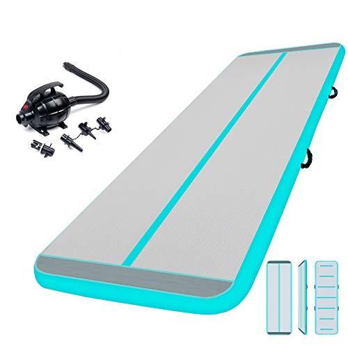 Aufblasbare Gymnastik Tumbling Matten 3M mit 500W Elektrische Luftpumpen - Air Floor Track Trainingsmatte | Gymnastikmatte | Weichbodenmatten | Turnen Übungsmatte für Zuhause, Outdoor, Yoga Kampfkunst