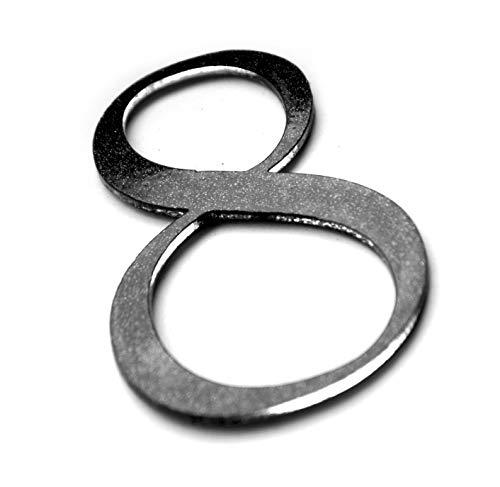 Hausnummer 0 bis 9 - ACHT - Ziffer für Briefkasten Zimmer Acryl Glas mit Glanz-Design Schwarz Selbstklebend Hausnummer (8)