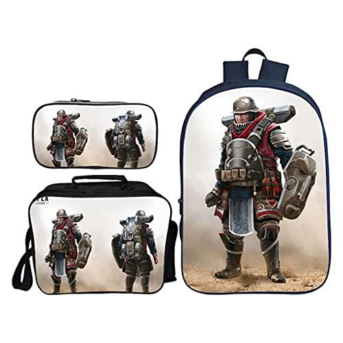 Addora 3pcs Kinder Rucksäcke Schultasche - 3D H-e-r-o Druck Kinder Studententasche + Umhängetasche + Federmäppchen - Studentengeschenk B- 42 * 29 * 16cm