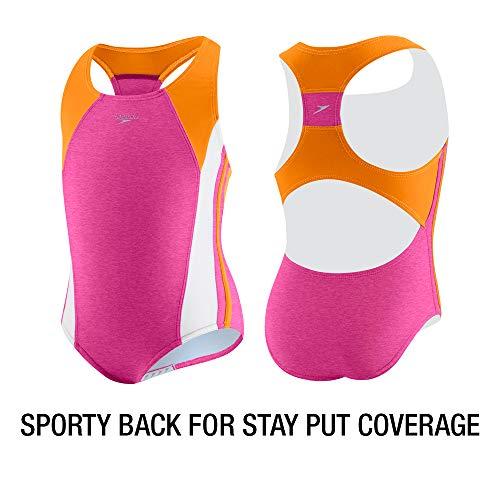 Speedo Girl's Swimsuit One Piece Infinity Splice Thick Strap