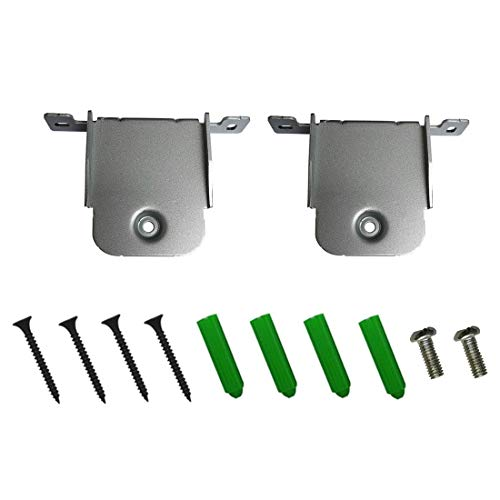Set of 2 Wall Brackets for LG SJ2 SJ4Y SJ4R SJ5Y SJ8 SJ8E Sound Bar, Silver Wall Bracket with Mounting Accessories